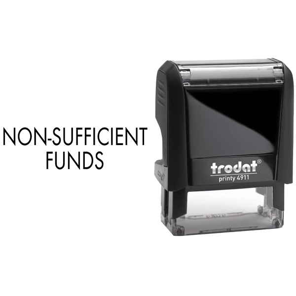 Non-Sufficient Funds Rubber Stamp