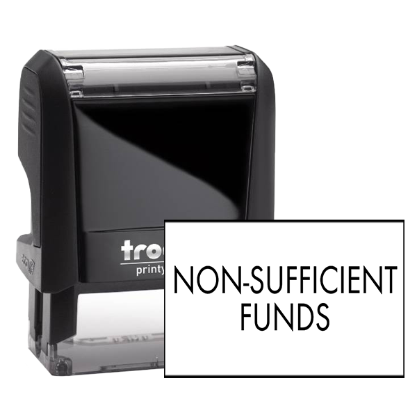 Non-Sufficient Funds Rubber Stamp Body and Imprint