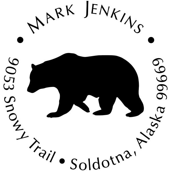 Big Bear Return Address Stamp
