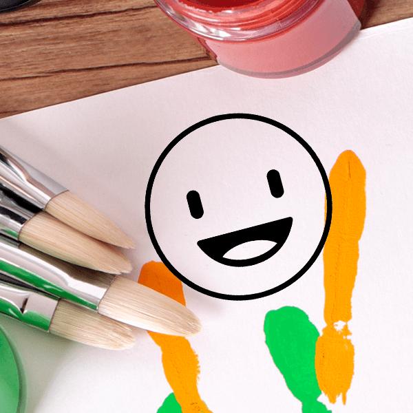Happy Emoji Teacher Craft Stamp Body and Design
