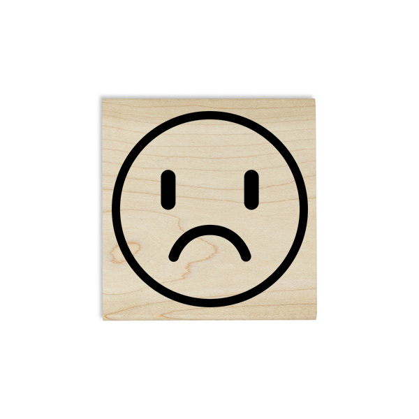 Sad Face Emoji Teacher Craft Stamp Body and Design