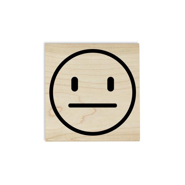 Straight Face Emoji Teacher Craft Stamp Body and Design