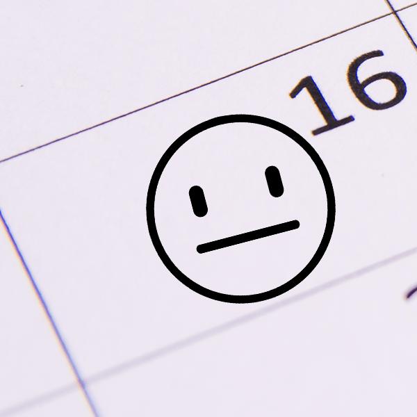 Straight Face Emoji Teacher Craft Stamp Imprint Example