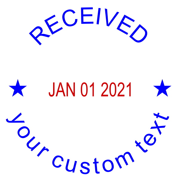 Custom Received Round Dater Stamp