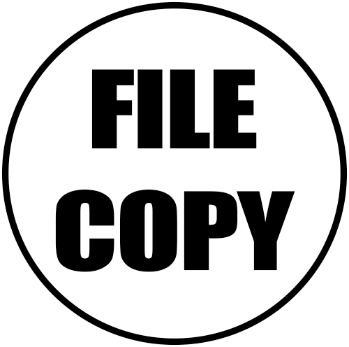 Office File Copy rubber stamp