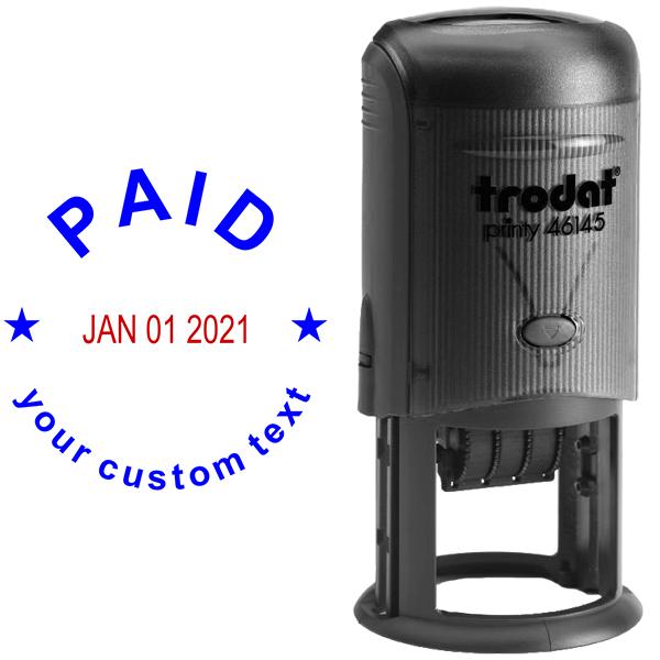 Custom Paid Round Dater Stamp Body and Design