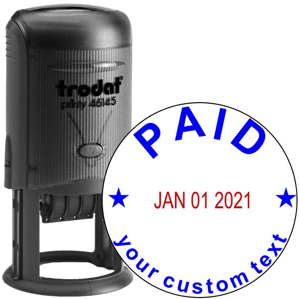 Custom Paid Round Dater Stamp