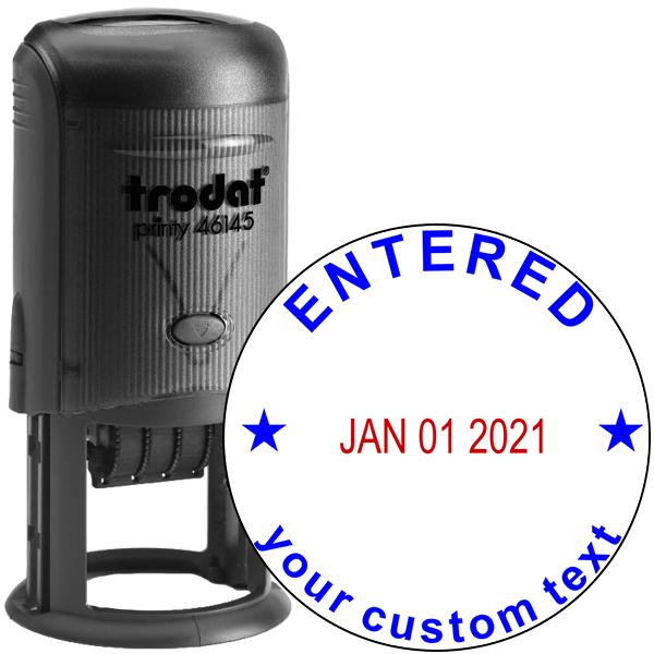 Custom Entered Round Dater Stamp