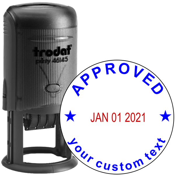 Custom Approved Round Dater Stamp