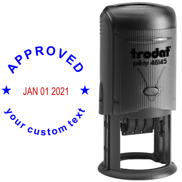 Custom Approved Round Dater Stamp Body and Design