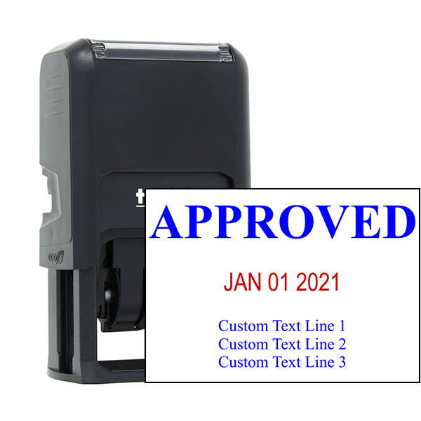 Approved Custom Three Line Dater Stamp