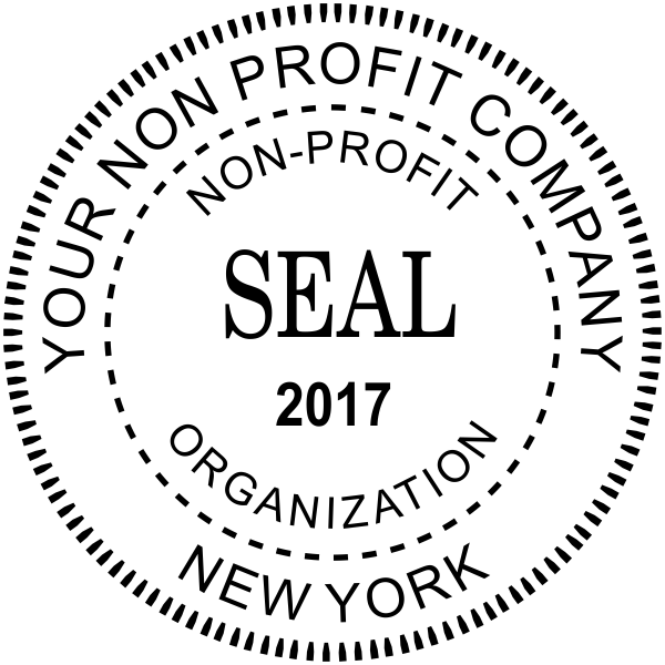 Non-Profit Organization with Date Seal Stamp
