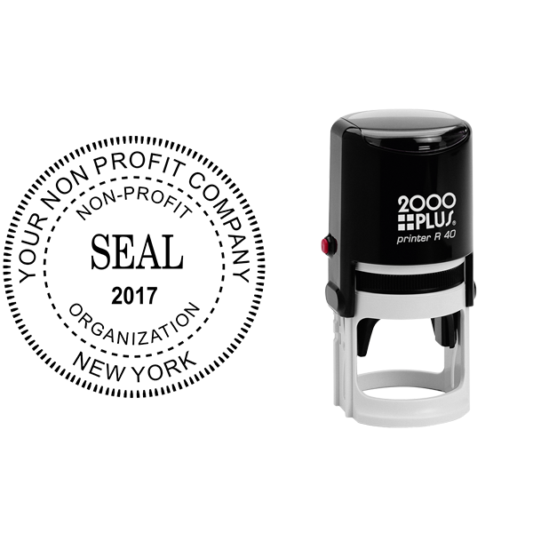Non-Profit Organization with Date Seal Stamp Body and Design