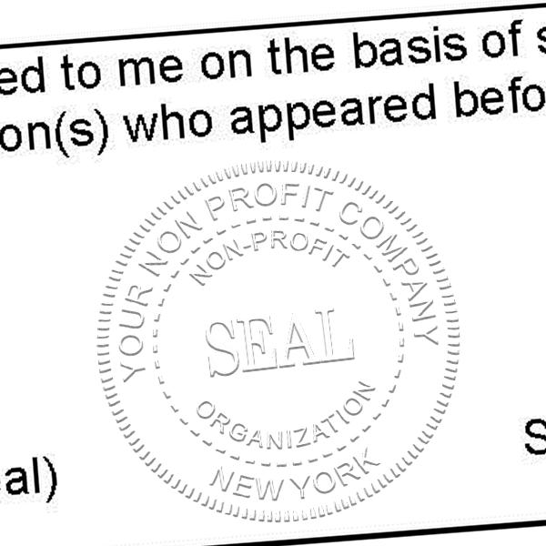 Non-Profit Organization Seal Embosser Imprint Example