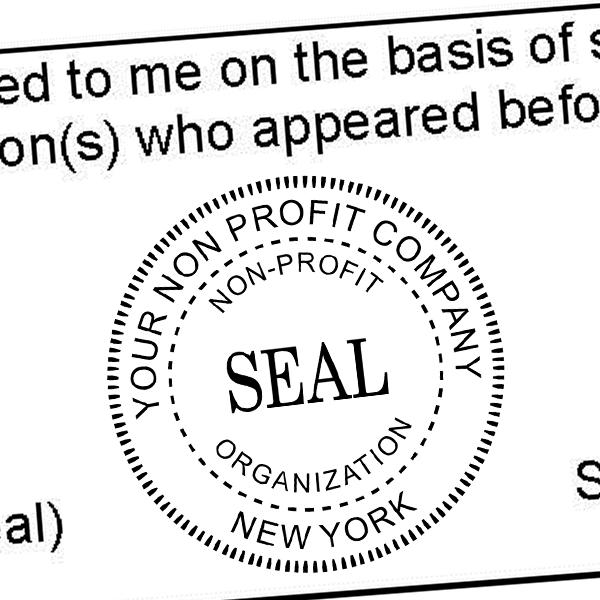 Non-Profit Organization Seal Stamp Imprint Example