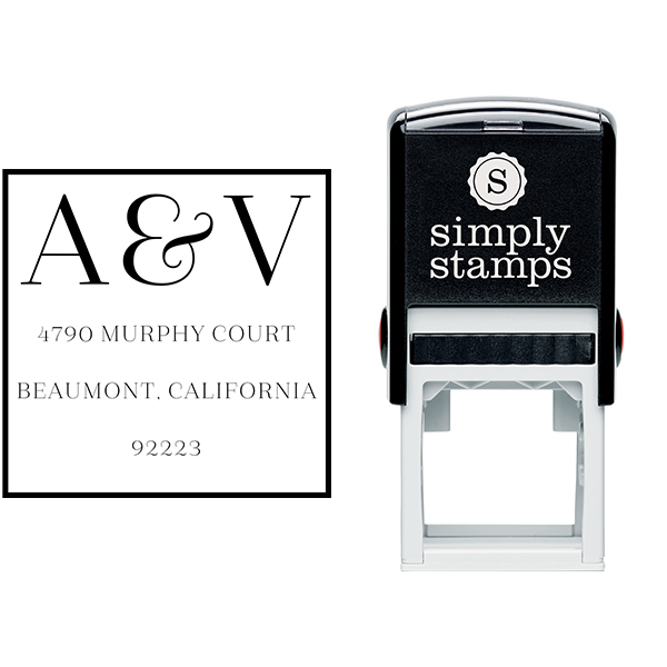 Azalea Monogram Address Stamp Body and Design