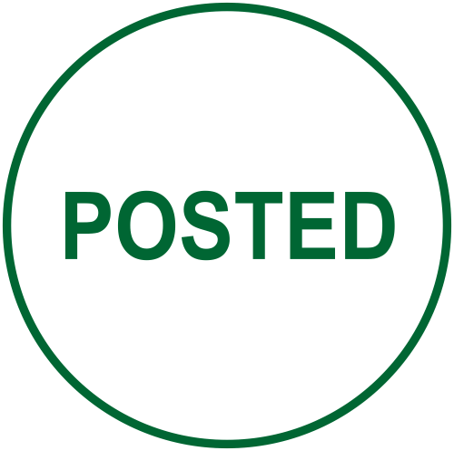 POSTED Round Stock Office Rubber Stamp