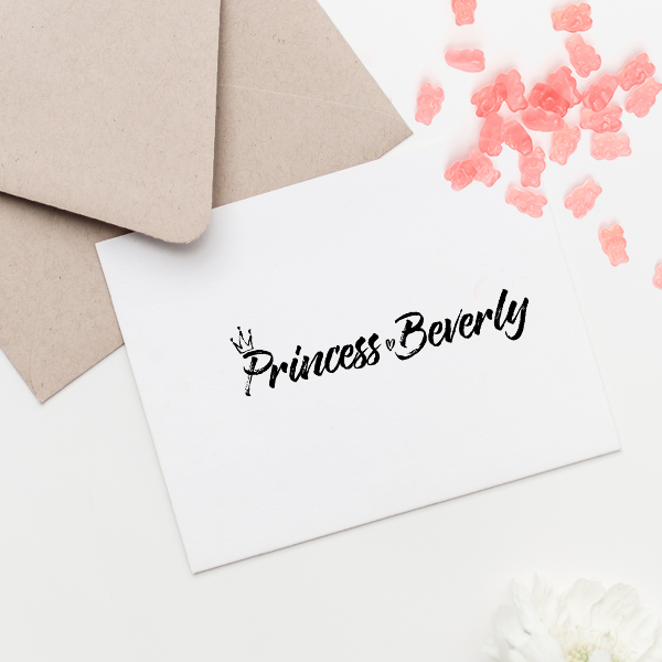 "Custom ""Princess"" Baby Name Craft Stamp Imprint Example"
