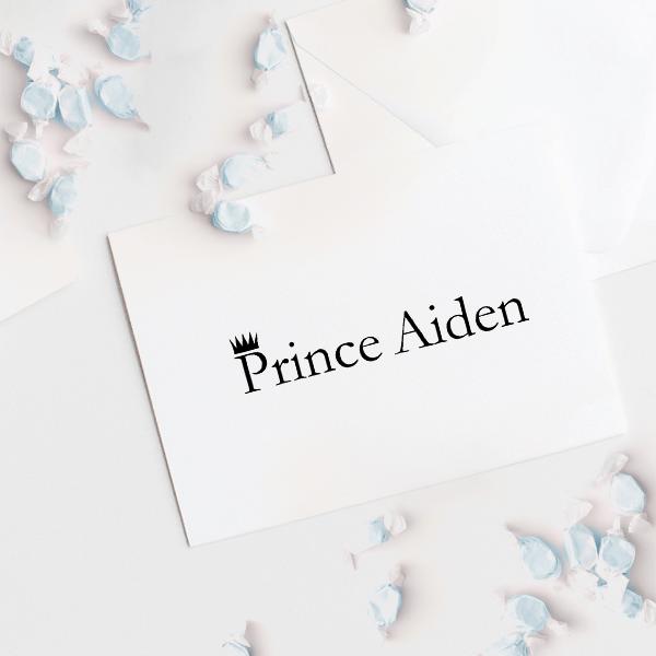 "Custom ""Prince"" Baby Name Craft Stamp Imprint Example"