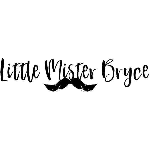 "Custom ""Little Mister"" Mustache Craft Stamp"