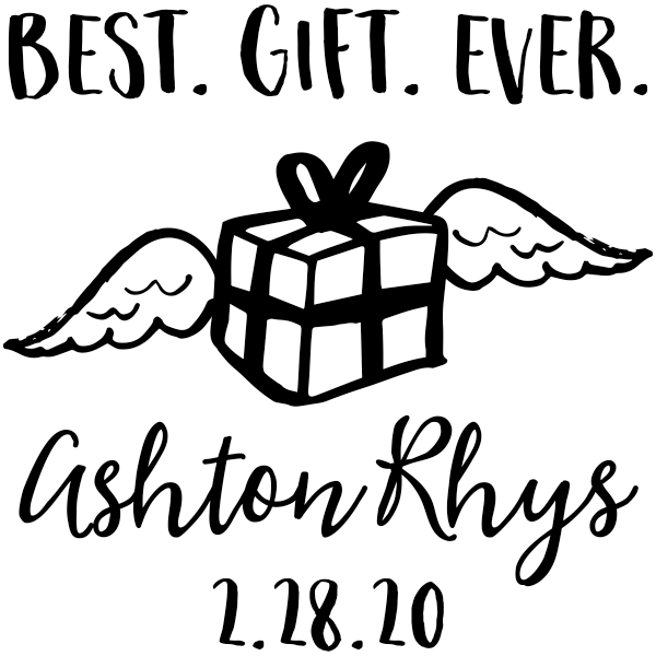 Custom Best Gift Ever Baby Announcement Craft Stamp
