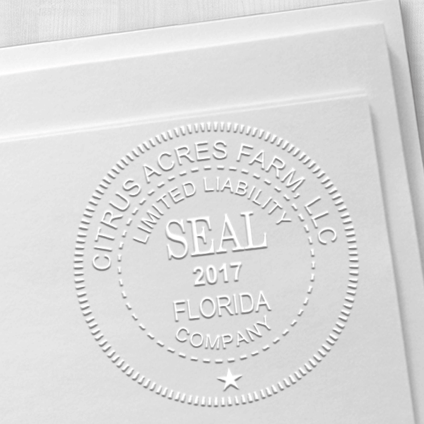 Limited Liability Company with Date Seal Embosser Imprint Example