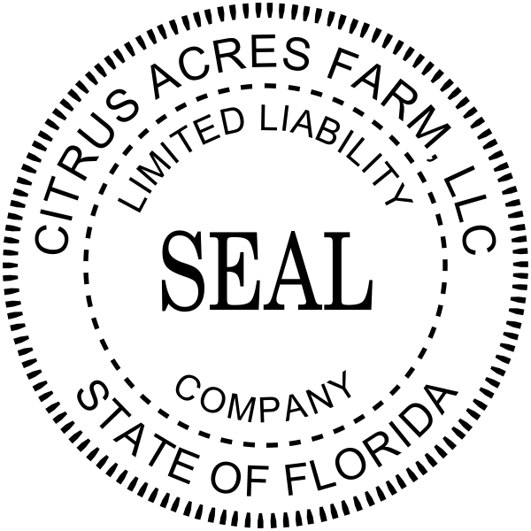 Limited Liability Company Seal Rubber Stamp