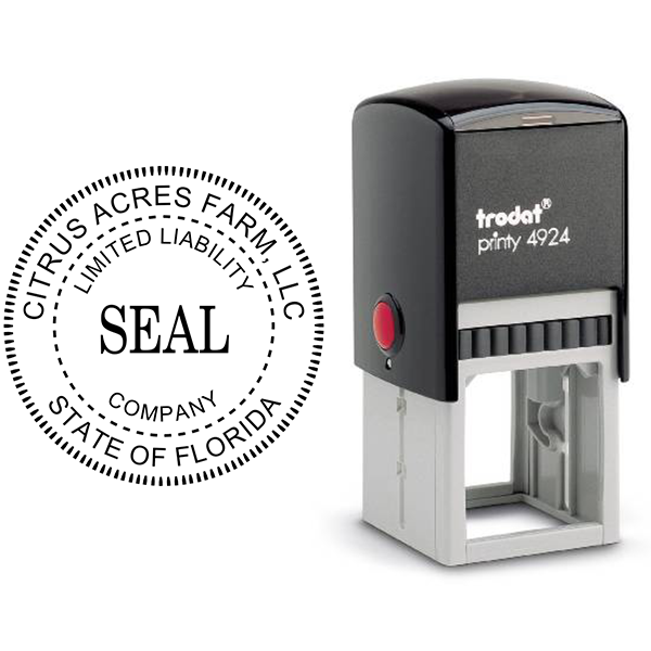 Limited Liability Company Seal Rubber Stamp Body and Design