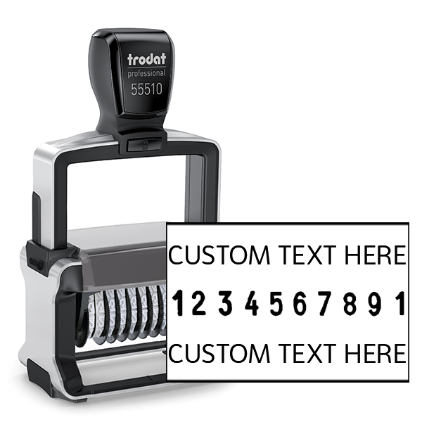 Trodat Professional 55510 | 10 Digit Numberer & Text Stamp