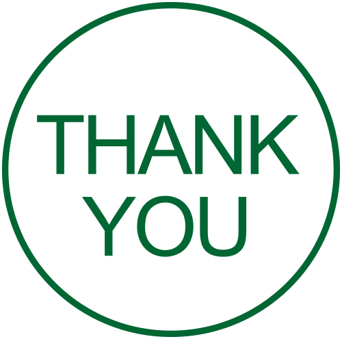 Stock Office Thank You round rubber stamp
