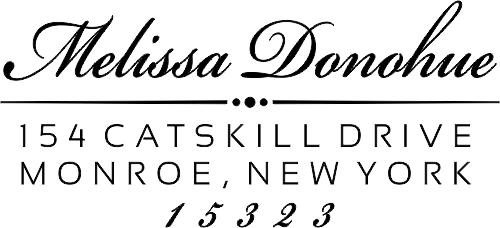 Donahue Fancy Address Stamp