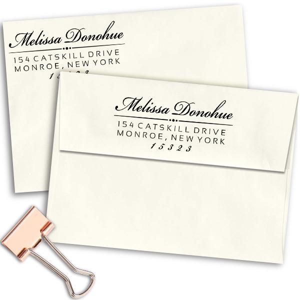 Donohue Address Stamp Imprint Examples on Envelopes