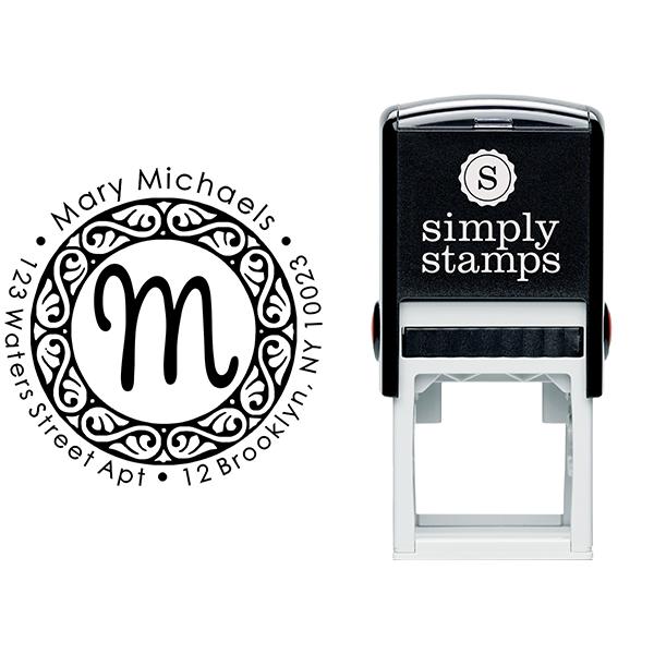 Pinafore Monogram Return Address Stamp Body and Imprint