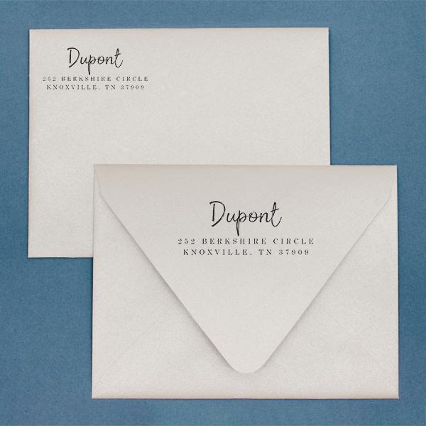 Dupont Brush Return Address Stamp Imprint Examples