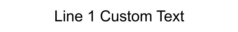 1 Line Custom Rubber Stamp Imprint Example
