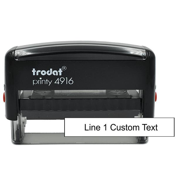1 Line Custom Rubber Stamp