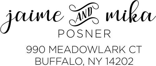 Meadowlark Couples Address Stamp