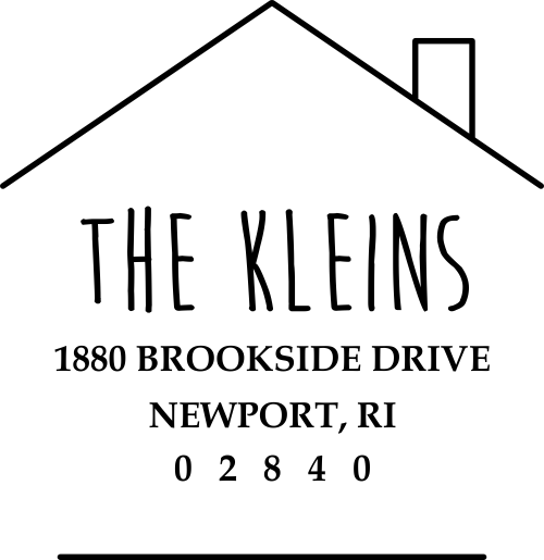 Newport House Shaped Address Stamp