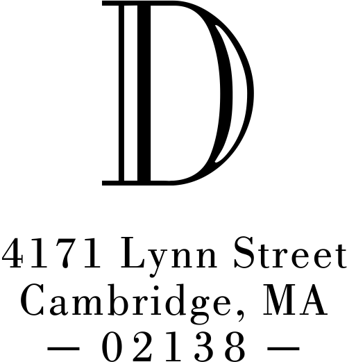 Cambridge Monogram Address Stamp