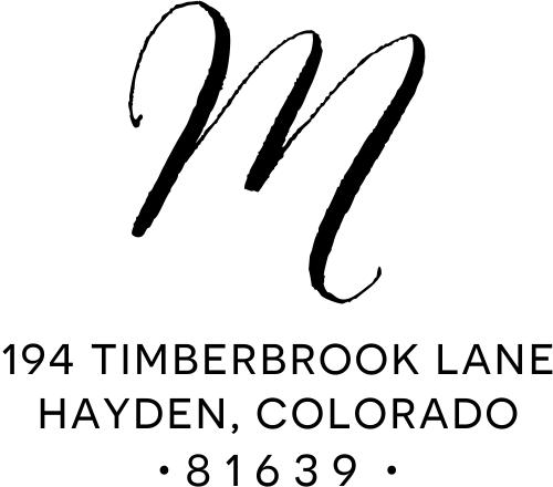 Hayden Lane Monogram Address Stamp