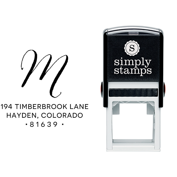 Hayden Lane Monogram Address Stamp Body and Design