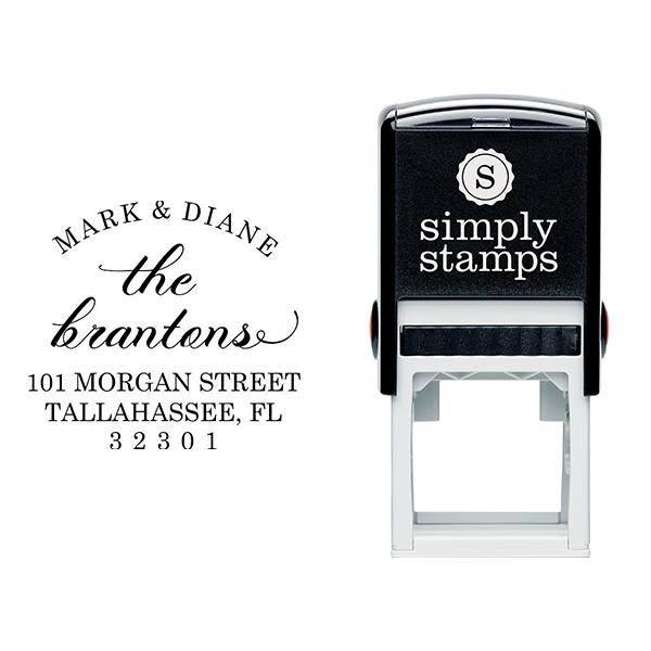 Branton Script Return Address Stamp Body and Design