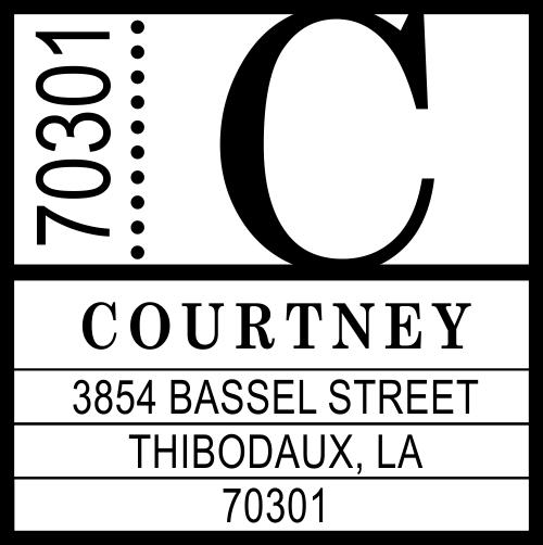Courtney Contemporary Address Stamp