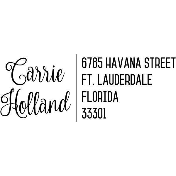 Holland Script Trendy Address Stamp