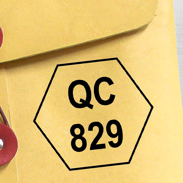 Polygon Shape QC Inspection Stamp Imprint Example