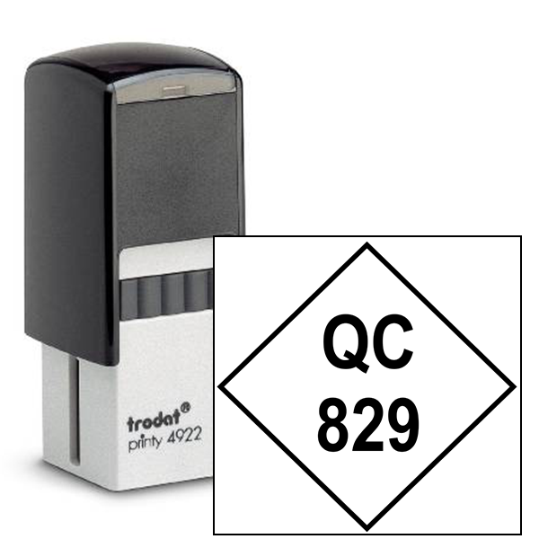 Diamond Shape QC Inspection Stamp