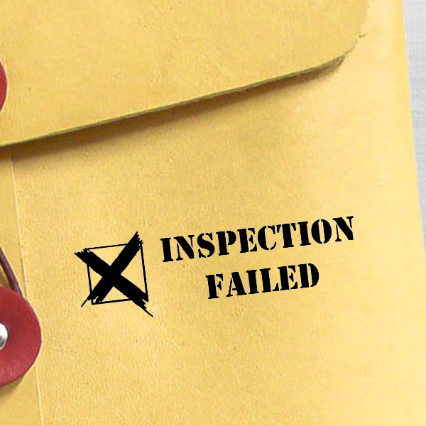 Inspection Failed Rubber Stamp Imprint Example