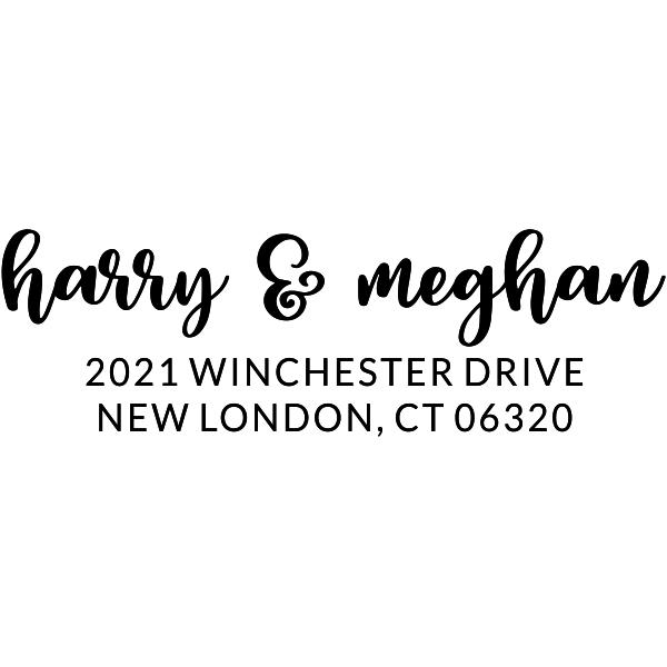 Winchester Couple Return Address Stamp