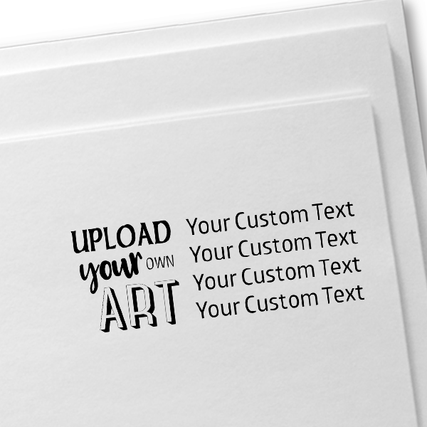 Upload Your Own Art Custom Text Rubber Stamp Imprint Example