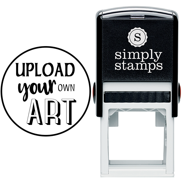 Round Border Upload Your Own Art Rubber Stamp Body and Design